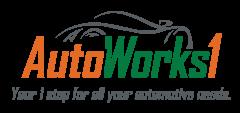 AutoWorks1 Car Repair Auto Maintenace Logo